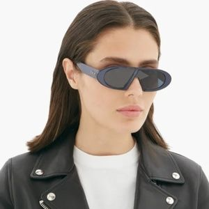 NWT Dior Oblique Oval Acetate Sunglasses